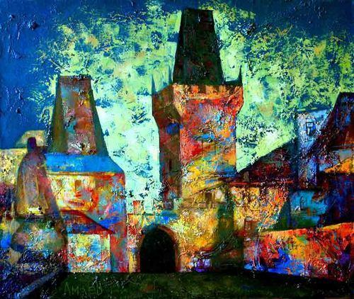 Exhibition rabrt Magomed Amayeva. Painting, collage