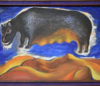 Выставка Молдакула Нарымбетова «Черные вихри на синем или зелено-голубом фоне»