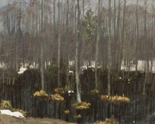 Выставка одной картины в музее-квартире И. И. Бродского