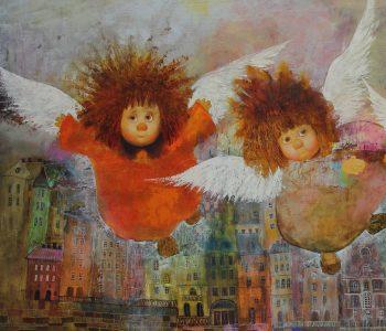 Выставка живописи Галины Чувиляевой «Солнечные ангелы и волшебный лес»