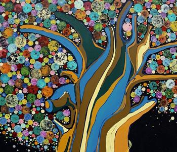 Выставка Анастасии Магдалиной «Дерево счастья»