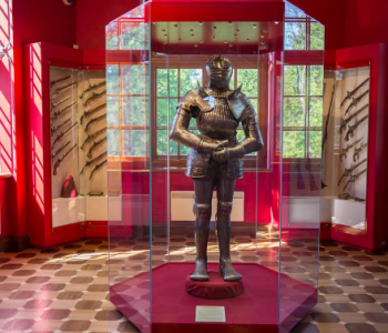 An exhibition of armor from the collection of the State Hermitage Museum
