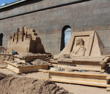 """Festival of sand sculptures """"World masterpieces"""""""