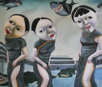 """Exhibition """"Sainkho Namchylak. Chorus me. Canvas, acrylic, soundtrack"""""""