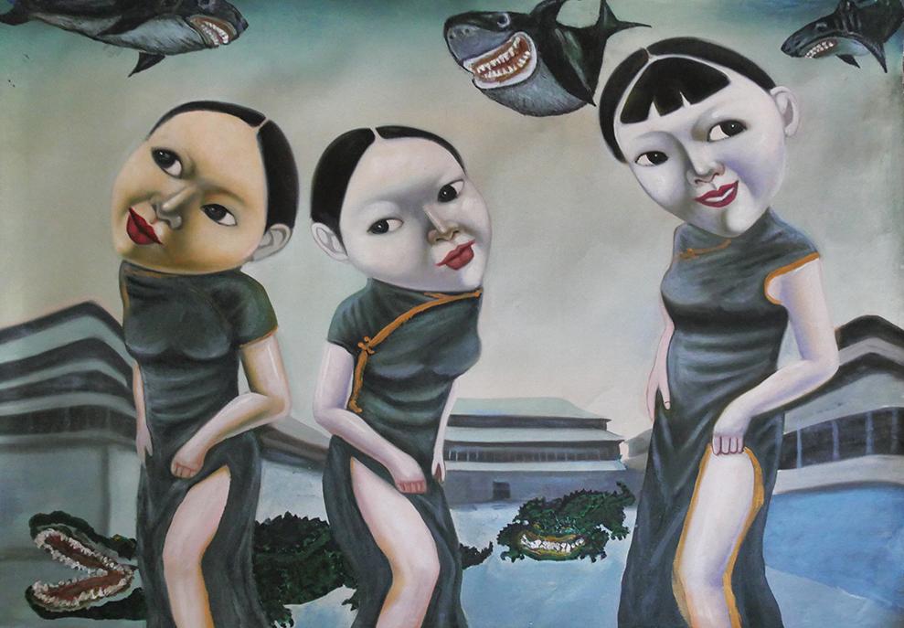 Выставка «Сайнхо Намчылак. Хор меня. Холст, акрил, звуковое сопровождение»