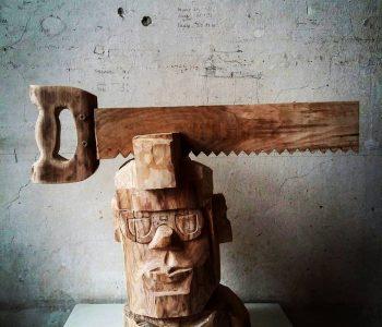 Персоны и персонажи. Деревянная скульптура