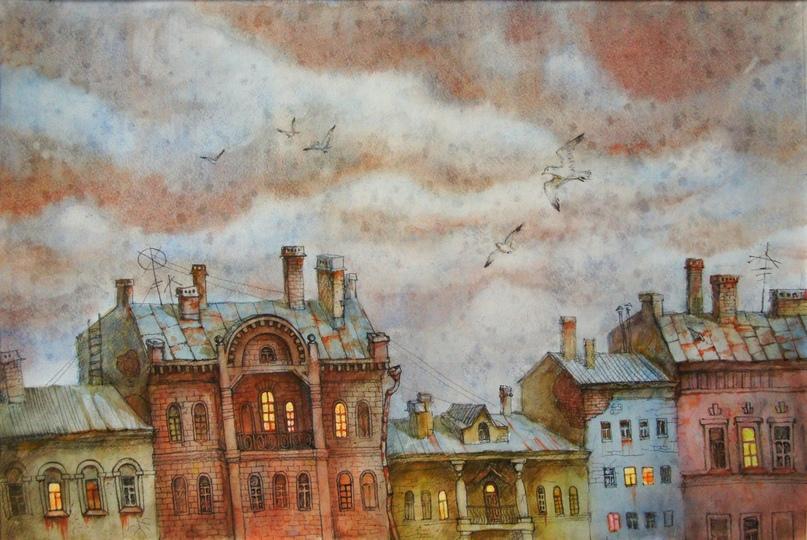 Анастасия Денисова. Нарисованный город