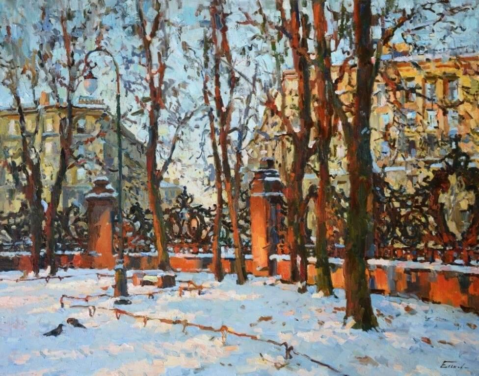 Павел Еськов. Снег идет